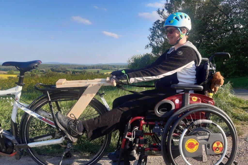 Ausflug mit dem Rollstuhl-Fahrrad