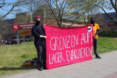 Banner auf der Kundgebung