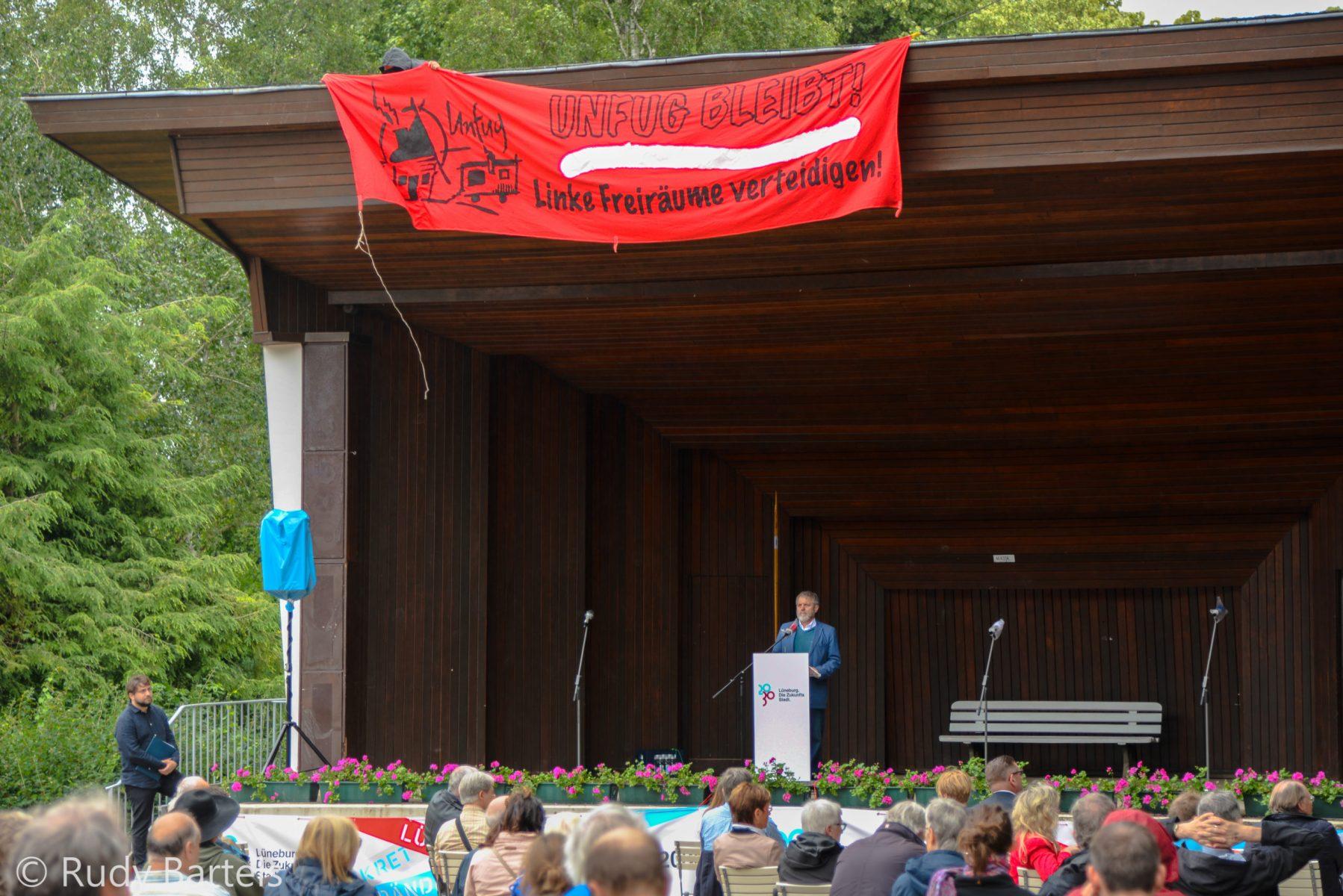 Bannerdropp bei Zukunfsststadt Lüneburg Auftakt 5.7.2020