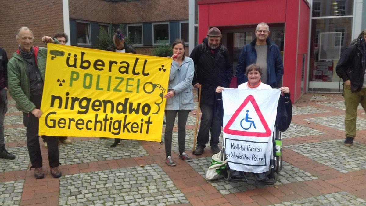 Lingen – Fortsetzung im Rollstuhl-Prozess gegen Atomkraftgegnerin