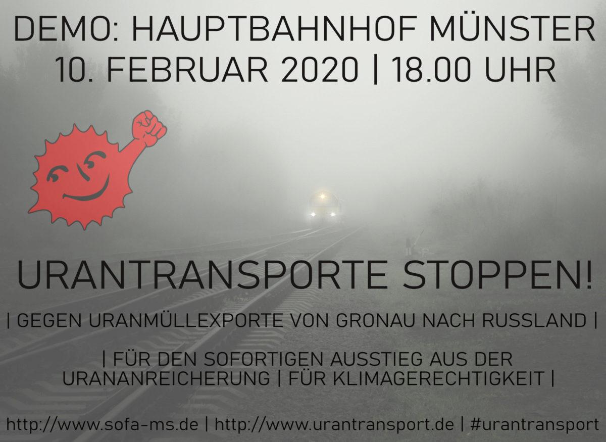 02.03. – Demo gegen Urantransporte in Münster