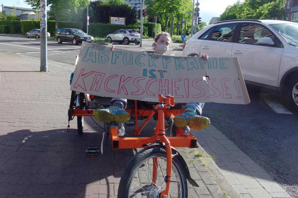 Abwrackprämie nein danke! Kundgebung in Lüneburg
