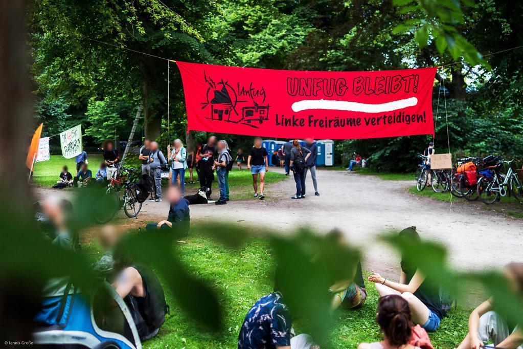 Bilder zum RechtAufStadt Camp in Lüneburg