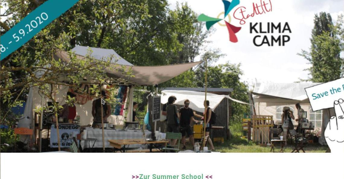 Banner Klimacamp in Wien