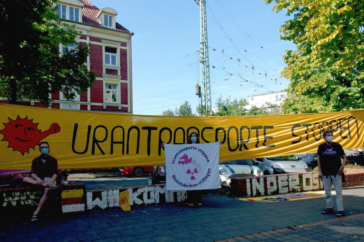 Videos – Protest gegen Uranmüll-Export nach Russland