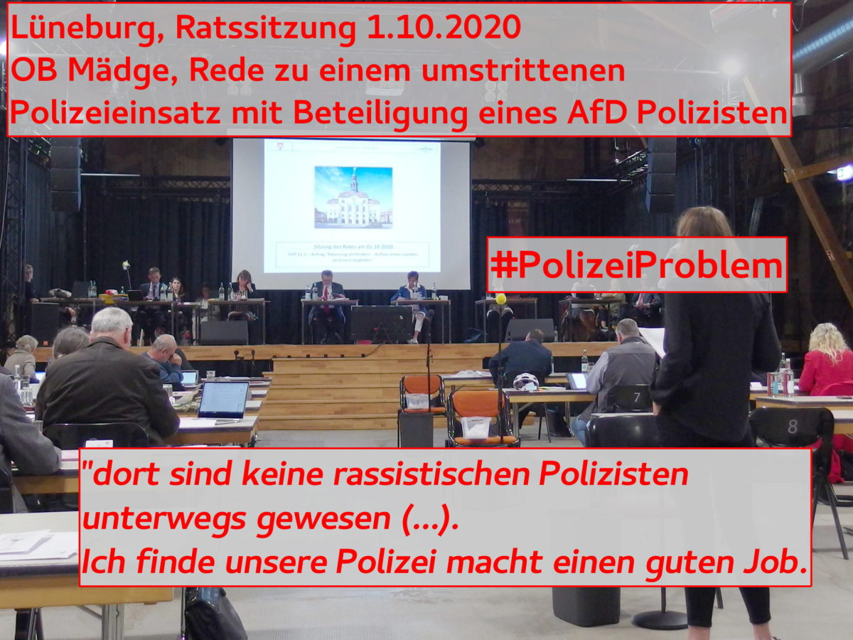 #PolizeiProblem im Lünebuger Stadtrat