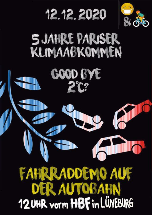 Klage erfolgreich! Lüneburger Klima-Fahrrad-Demo darf auf die Autobahn