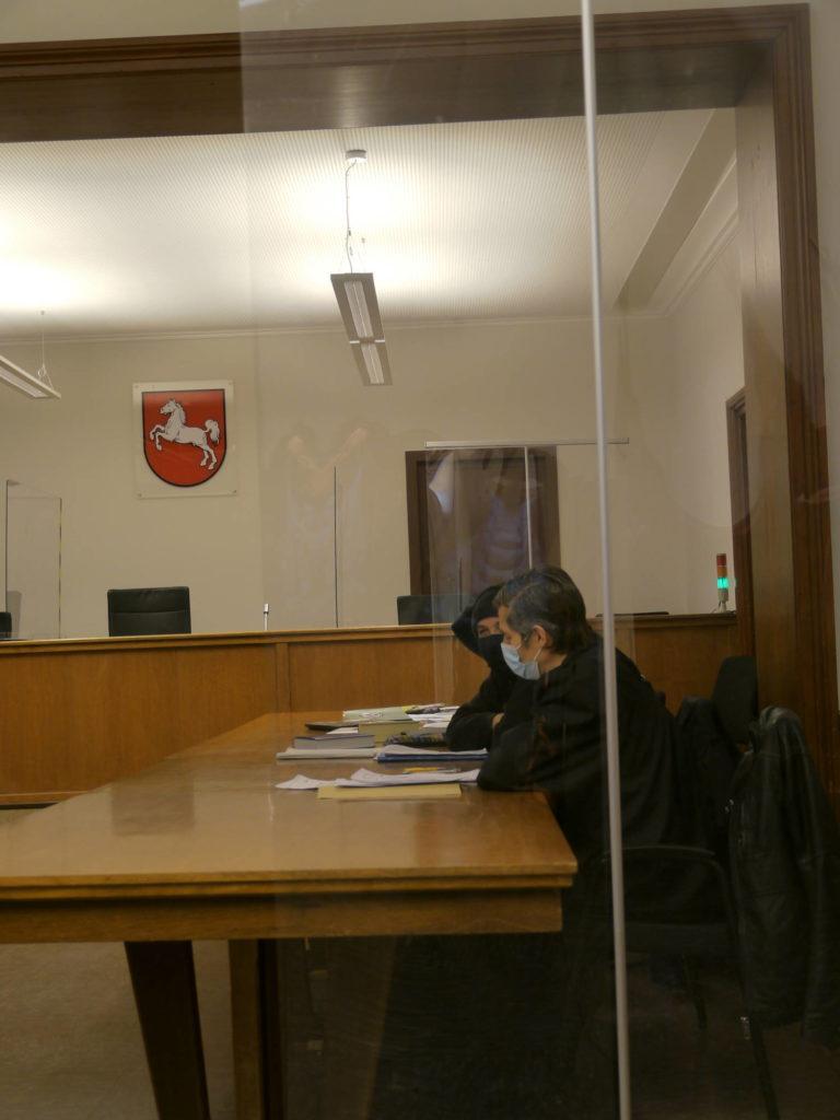 Bank der Verteidigung in Saal 8, Amtsgericht Lüneburg