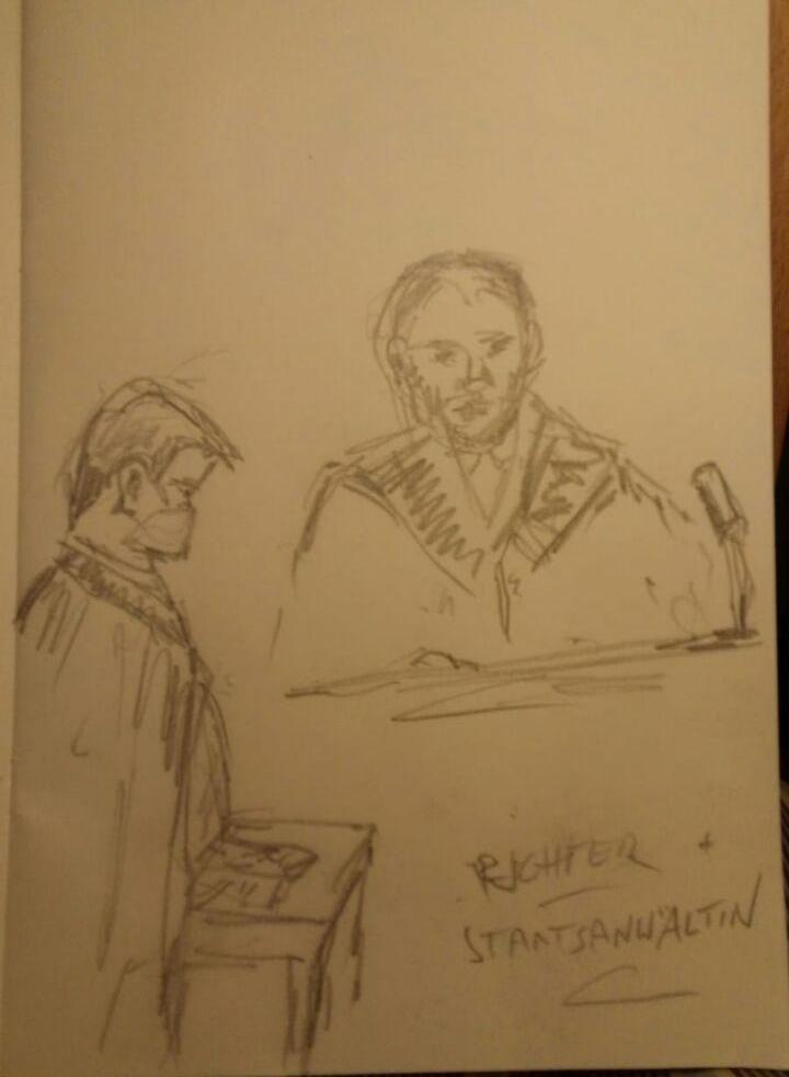 Zeichnung - Richter und StA