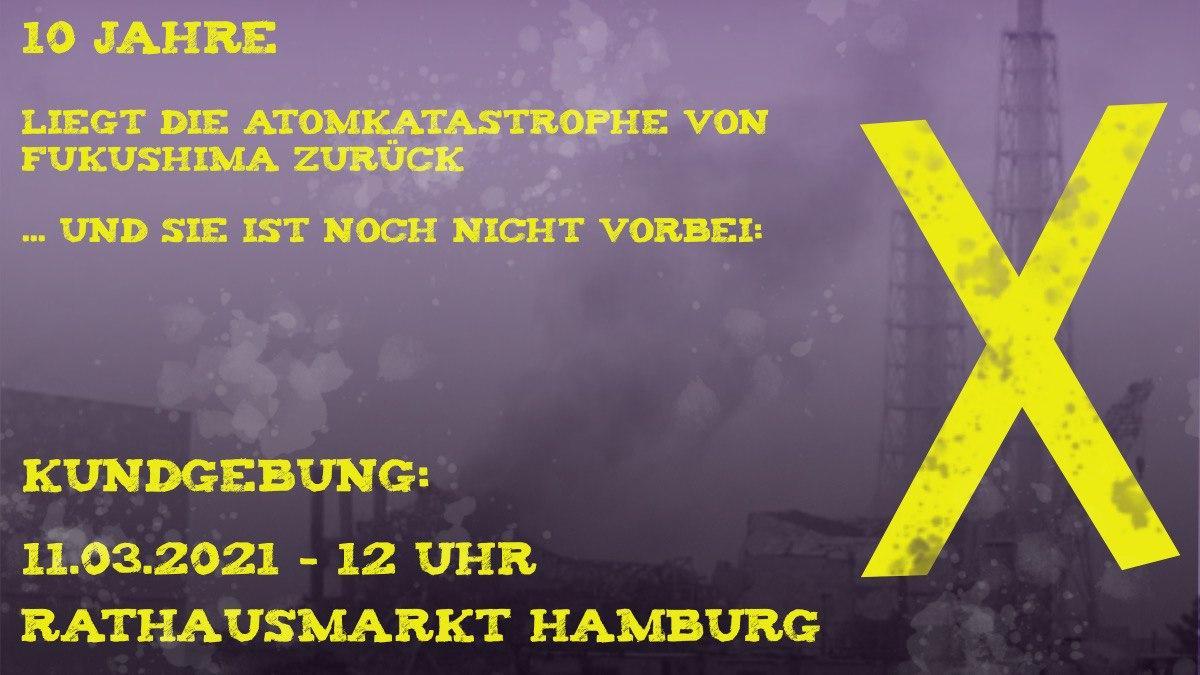 11.03.2021 – Mahnwache am Fukushima-Jahrestag in Hamburg