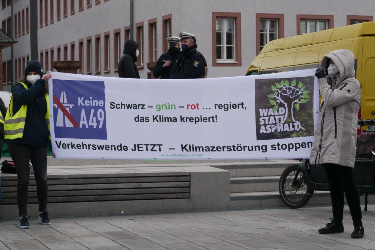 Bilder der Klimastreik Kundgebung in DA