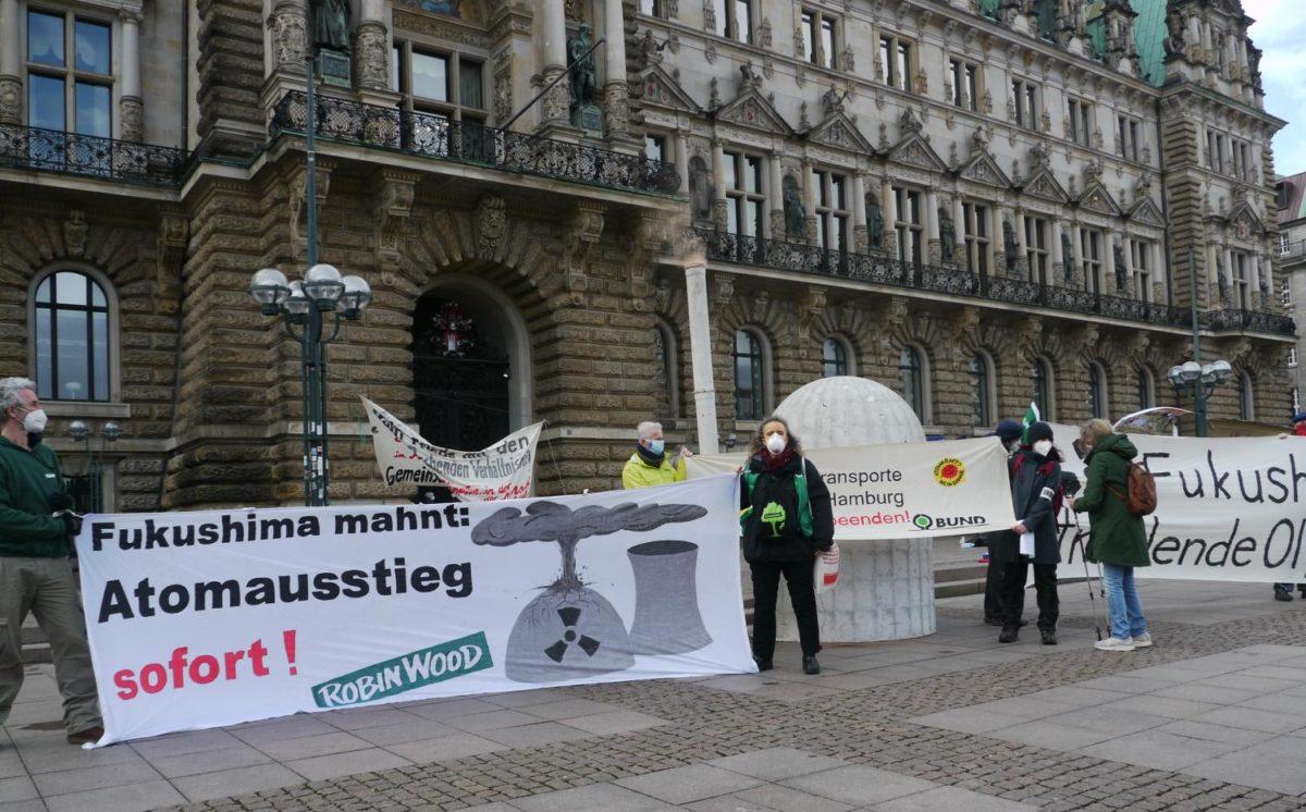 Zehn Jahre Atomunfall von Fukushima – Kundgebung in HH
