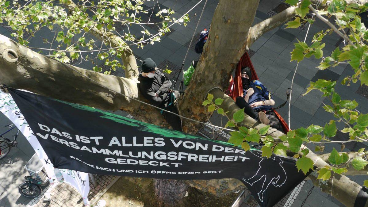 Baum-Klimacamp Darmstadt, Mai 2021