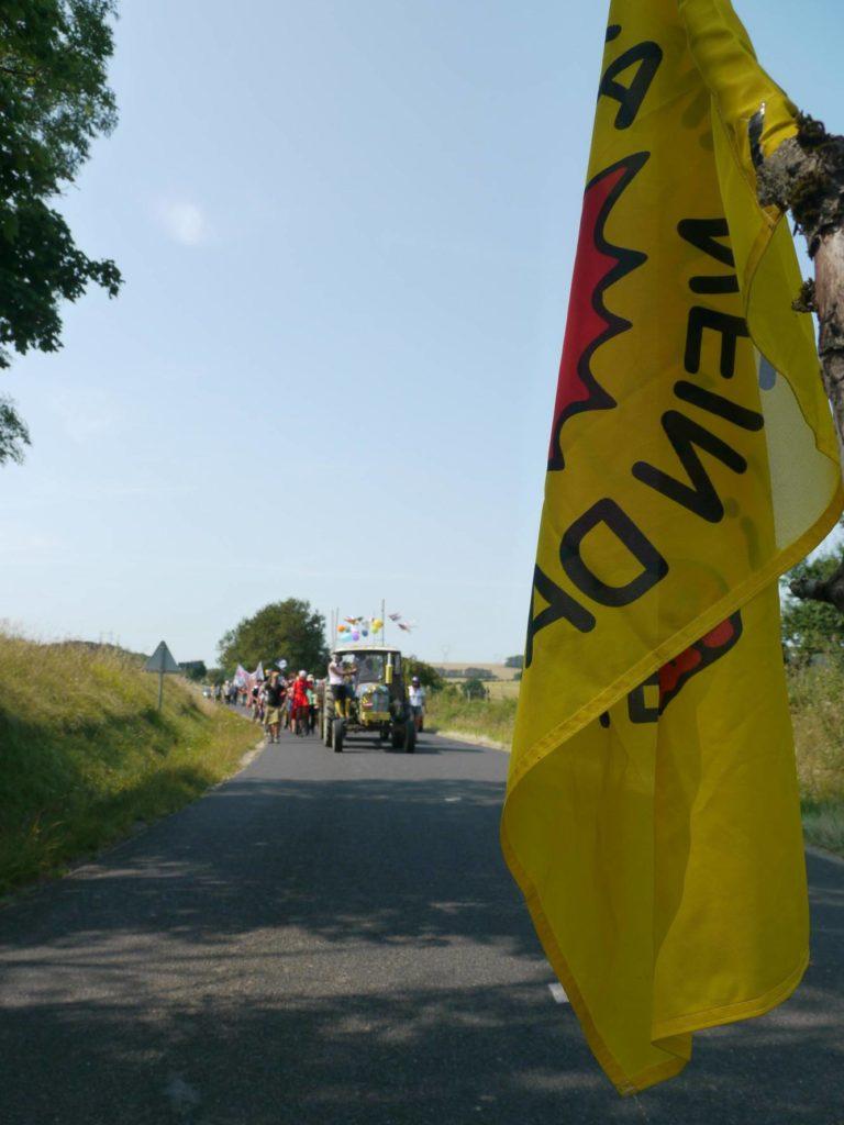 manifestation sur la route entre Horville et Gondrecourt-le-Château